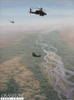 Apaches and Chinook, Afghanistan by Graeme Lothian.