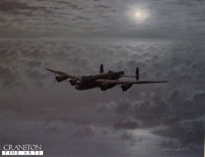 Moonlit Lancaster by Gerald Coulson.