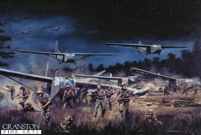 Chindits landing at Broadway, Burma, 5th / 6th March 1944 by David Rowlands (Y)
