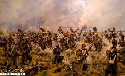 The Charge of the Scots Greys at Waterloo - Sgt Ewart Captures the French Eagle by Jason Askew. (GS)