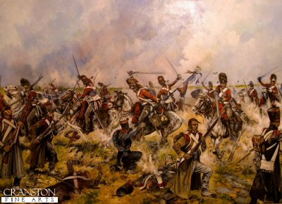 The Charge of the Scots Greys at Waterloo - Sgt Ewart Captures the French Eagle by Jason Askew. (PC)
