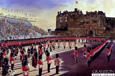 2nd Battalion Scots Guards at Edinburgh Castle by David Rowlands.