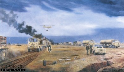 10th Regiment Royal Corps of Transport Group, Iraq 27th Feb 1991 by David Rowlands.