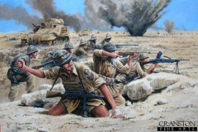 Folgore at El Alamein by David Pentland.