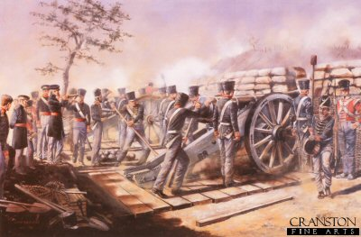 3rd Company, 4th Battalion Bengal Artillery at the Siege of Bhurtpore, 1825-26. Now 57 (Bhurtpore) Locating Battery Royal Artillery.