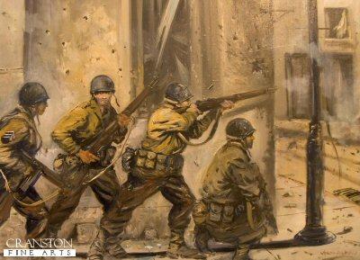 8th US Infantry, 4th US Division enter Sainte-Marie-du-Mont by Jason Askew. (PC)