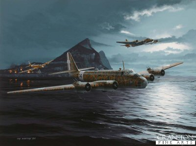 Raid on the Rock - Tribute to the Crews of the Regia Aeronautica by Ivan Berryman.