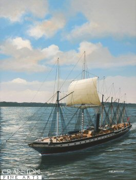 SS Great Britain Off Cowes by Ivan Berryman.