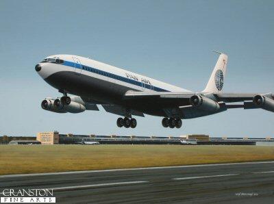 Pan Am Boeing 707 at Tempelhof by Ivan Berryman. (GS)