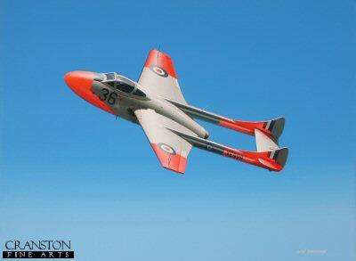 De Havilland Vampire T.11 by Ivan Berryman.