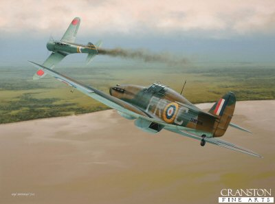 Ace of Burma - Tribute to Wing Commander Frank Carey by Ivan Berryman. (D)