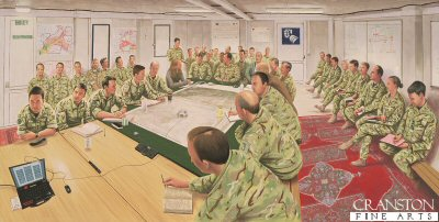 Commander Task Force Helmand Evening Update, Lashkar Gah, Afghanistan by Graeme Lothian. (APB)