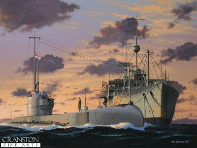 HMS Poseidon by Ivan Berryman. (P)