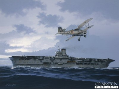 HMS Ark Royal III by Ivan Berryman. (GS)