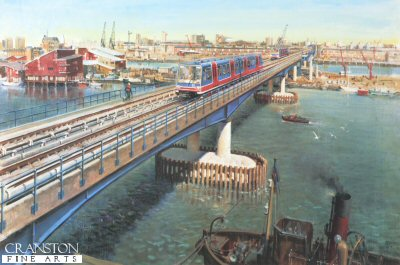 Terence Cuneo - Docklands Light Railway.