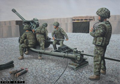 105mm Light Gun of the Royal Artillery, Helmand, Afghanistan by Graeme Lothian.
