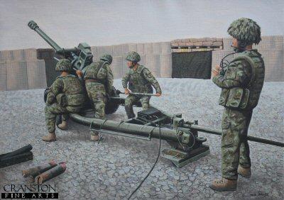 105mm Light Gun of the Royal Artillery, Helmand, Afghanistan by Graeme Lothian.
