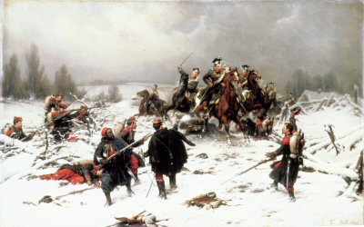 Attack by Prussian Uhlans by Christian Sell (GL)