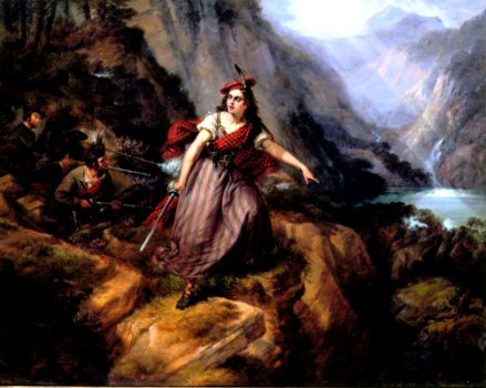 Helen MacGregor in the Conflict at the Pass of Loch Ard by Siegfried Detler Bendixon (GL)