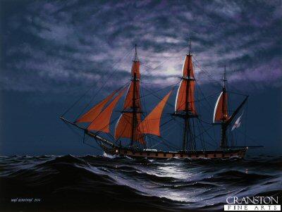 HMS Euryalus - Shadowing the Fleet by Ivan Berryman.