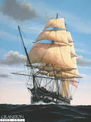USS Constitution - 'Old Ironsides' by Ivan Berryman. (P)