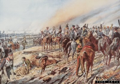 DHM651.  Battle of Leipzig by Richard Knotel. <b><p>Open edition print. <p> Image size 17 inches x 12 inches (43cm x 31cm)