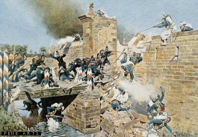 The Landau Gate at Wissembourg is Taken by Assault, 4th August 1870 by Carl Rochling. (Y)