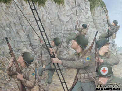 Scaling the Cliffs at Pointe du Hoc by Brian Palmer. (P)