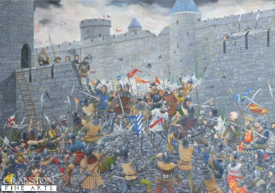 The Siege of Harfleur, 1415 by Brian Palmer. (P)
