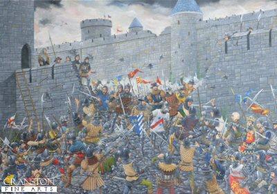 The Siege of Harfleur, 1415 by Brian Palmer. (P)