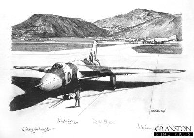Vulcan at Ascension, 1982 by Ivan Berryman. (P)