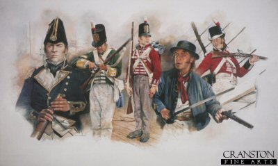 Men of the British Navy During the Battle of Lake Erie 1813 by Chris Collingwood (GS)