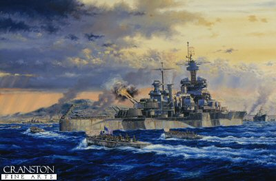USS Colorado Okinawa by Anthony Saunders.