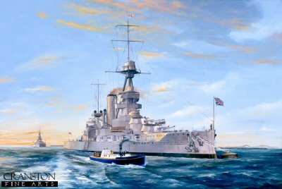HMS Iron Duke at Weymouth Bay 1927 by Randall Wilson. (RM)