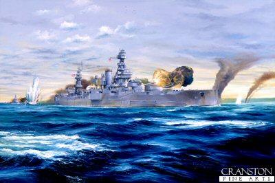 Gunline Omaha - USS Texas by Randall Wilson.