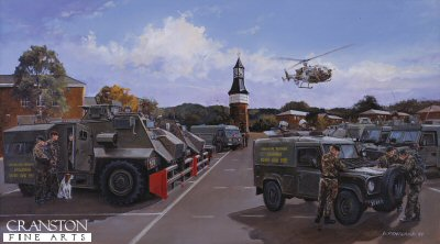 Deployment from Palace Barracks by David Pentland. (GS)
