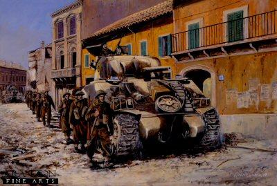 Anzio, Italy, February 1944 by David Pentland. (P)
