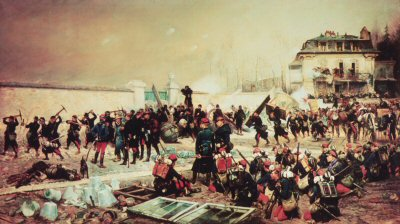 The Defence of Champigny, November 30th 1870 by Edouard Detaille. (GS)