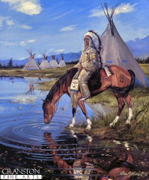 Assiniboin Warrior by Alan Herriot. (GS)