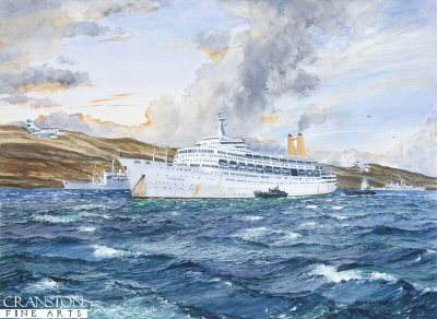 RMS Canberra, the Battle in bomb Alley by Robert Barbour.