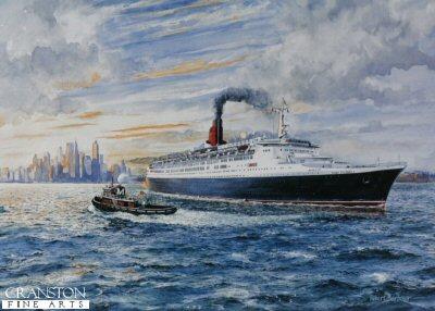 The Queen Elizabeth 2 Leaving New York by Robert Barbour.