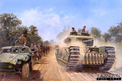 Operation Bluecoat, Normandy, 30th July 1944 by David Pentland.