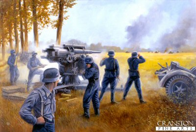Action at Arras, France, 21st May 1940 by David Pentland.