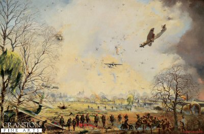 Hamminkeln, 6th Airborne Assault over the Rhine, 24th March 1945 by John Sellers.