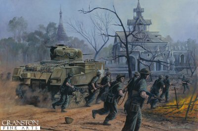 Road to Mandalay, Burma, February 1945 by David Pentland.