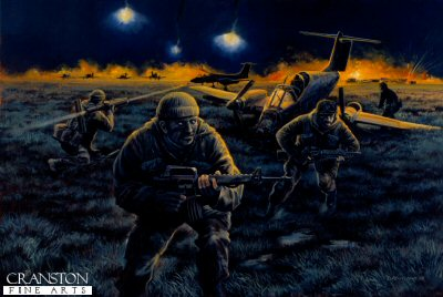 Raid on Pebble Island, Falkland Islands, 1982 by David Pentland.
