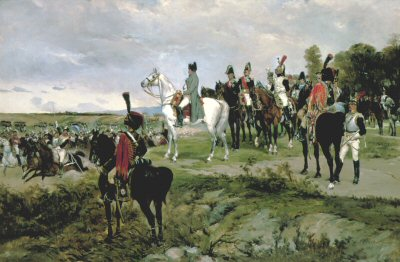 Napoleon Watching the Battle of Friedland by James Alexander Walker (GS)