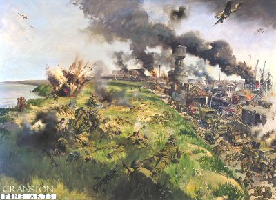 The Defence of Calaise by Terence Cuneo. (Y)