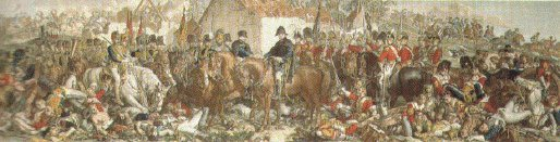 Wellington and Blucher the meeting at the Belle Alliance, Waterloo 1815 by Daniel Maclise.(W)