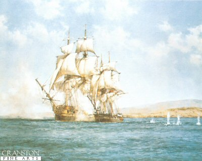 The Smoke of the Battle by Montague Dawson.